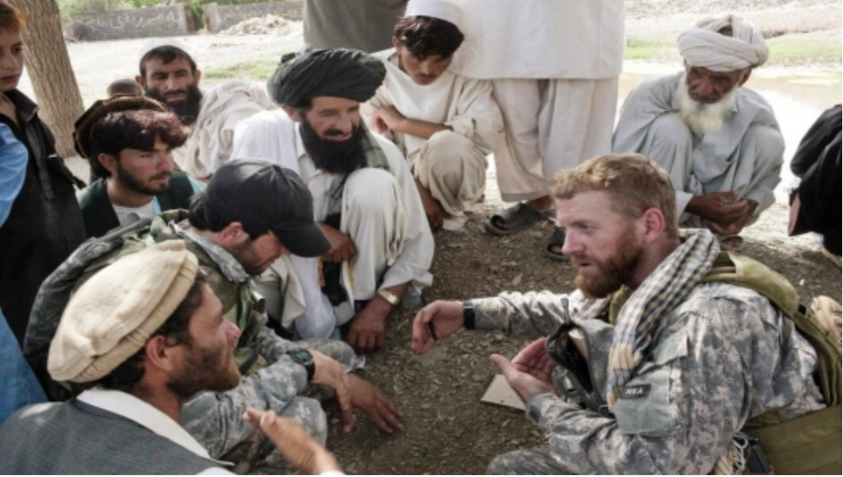 US HTS soldiers with Afghan citizens. Photo from https://borgenproject.org/u-s-army-experiment/.